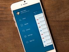 Mobile menu concept