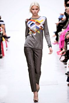 I love love love this graphic sweater from Pringles of Scotland.  Runs $850 if you can find one.  This line available at saks.com