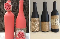 Vases of bottles with their own hands - 29 photos with ideas for creativity - Glass and plastic bottles have a wide variety of shapes and sizes, which makes them an excellent material for making vases. Diy Home Decor On A Budget, Diy Home Improvement, Plastic Bottles, Dollar Stores, Vases, Creativity, Invitations, Photos, Ideas