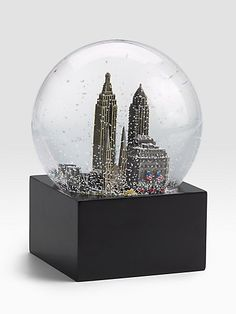 3dfa374b010b Saks Fifth Avenue New York City Snow Globe A reminder of one of my favorite  things.walking through the snow covered streets of NYC while it s still  falling.