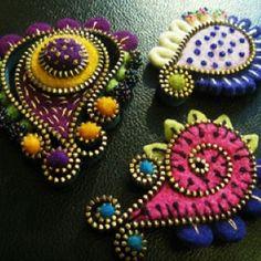 Gorgeous felt pins!