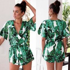 2acd217f943 Women Summer Beach Jumpsuit Clubwear Bodycon Playsuit Romper Short Pants  Trouser. КомбинезонClubwearПляж ЛетомБрюкиДекольте