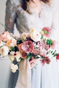 blush wedding bouquets with different ruddy flowers in the hands of the bride michelle lange photographer bouquets mauve 51 Glamorous Blush Wedding Bouquets That Inspire Spring Wedding Flowers, Flower Bouquet Wedding, Floral Wedding, Flower Bouquets, Blue Wedding, Wedding Bride, Wedding Blog, Wedding Ideas, Fall Wedding