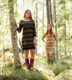 KAINO Knitwear AW2014 - Knitted Dress Northern Lights Knit Dress, Knitwear, What To Wear, Northern Lights, Fur Coat, Sweaters, Jackets, Collection, Dresses