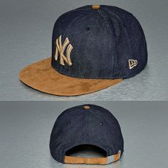 New Era Denim Suede NY Yankees 9Fifty Snapback Cap Navy/Brown