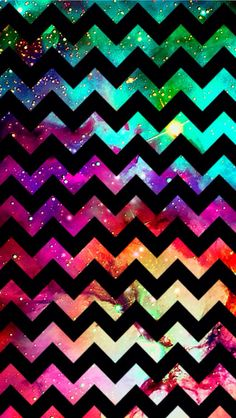 Chevron print and it's galaxy wallpaper