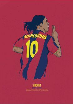 Ronaldinho w wersji rysunkowej FC Barcelona Brazil Football Team, Football Is Life, Retro Football, World Football, Football Soccer, Football Players, Soccer Sports, Soccer Tips, Nike Soccer