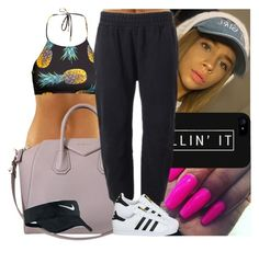 """""""Itzjoslyn inspired"""" by msixo ❤ liked on Polyvore featuring H&M, LG, Givenchy, adidas Originals, NIKE and adidas"""