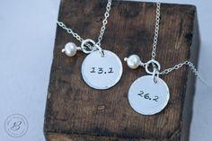 Marathon Necklace  Hand stamped Jewelry  by betsyfarmerdesigns, $25.00