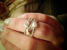Silpada's stackable rings look beautiful with the new Cross My Heart ring.
