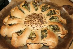 Let's celebrate spring :) Cheese Pies, Spinach And Cheese, Spanakopita, Greek Recipes, Kitchen Recipes, Spring, Ethnic Recipes, Food, Cheese Tarts