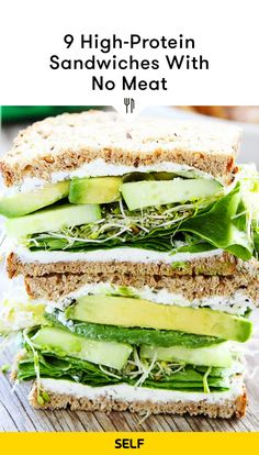 Baked tofu, tempeh bacon, hummus, cheese, beans, and lentils are all vegetarian protein sources that work perfectly on sandwiches. Here are some easy, healthy vegetarian recipe ideas (that taste delicious), plus tips from a registered dietitian. Clean Eating Diet, Clean Eating Recipes, Healthy Dinner Recipes, Healthy Eating, Dessert Healthy, Lunch Recipes, Easy Recipes For Two, Healthy Food, Supper Recipes