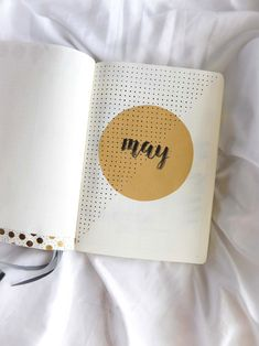 Bullet Journal, Bullet Journaling, Monthly Cover, May
