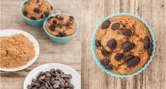 Fettarme Muffins mit Schokolade und Erdnussbutter