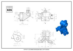 3D CAD EXERCISES 635 - STUDYCADCAM Isometric Drawing Exercises, Autocad Isometric Drawing, Mechanical Engineering Design, Mechanical Design, Autocad 3d Modeling, Blueprint Drawing, Cad Programs, 3d Drawings, Drawing Practice