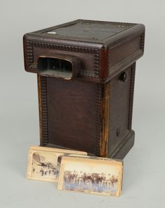 VICTORIAN DOUBLE SIDED STEREO VIEWER, with a collection