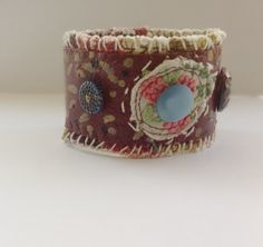 Boho Hippie Earthy Cuff Bracelet Collage One of a door itzaChicThing, $30.00