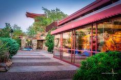 Kiva pool #taliesinwest #frankllyodwright #architecturephotography #architecturelovers #architechture #scottsdale #arizona