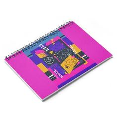 My Circus Buddies Spiral Notebook - Ruled Line Pink and Purple