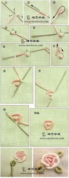 needlework rose