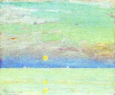 Childe Hassam, Moonrise At Sunset, 1892
