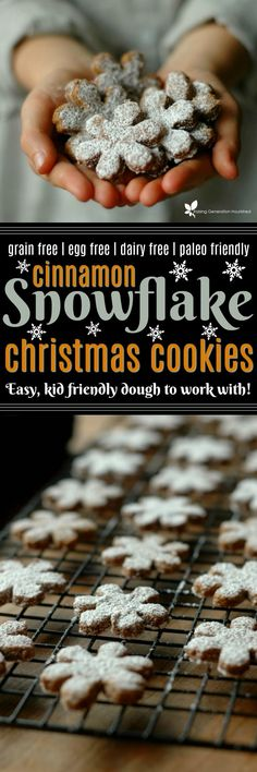 Celebrate the season without the sugar overload and make these festive and fun Paleo cinnamon snowflake cookies!
