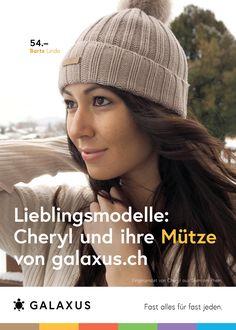 Lieblingsmodelle: Cheryl und ihre Mütze von Galaxus #GalaxusLive #Werbung #Anzeige #Plakat #Inserat #Beanie #Galaxus Crochet Hats, Beanie, Live, Advertising Campaign, Advertising, Poster, Scale Model, Knitting Hats, Beanies