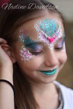Little Rose Bling Face Paint | Nadine Davidson | Princess Face Paint