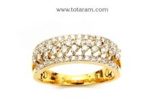 Buy Diamond Ring for Women in 18K Gold - DR712 with a list price of $866.99 - 22K Indian Gold Jewelry from Totaram Jewelers
