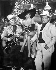 Roy Rogers, Jane Russell and Bob Hope