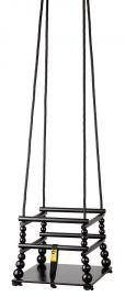 houten schommel, zwart, voor in de kinderkamer of speelhoek. #kidsroom #retro http://www.grasonderjevoeten.nl/a-30241438/zoopreme/houten-schommel-zwart/