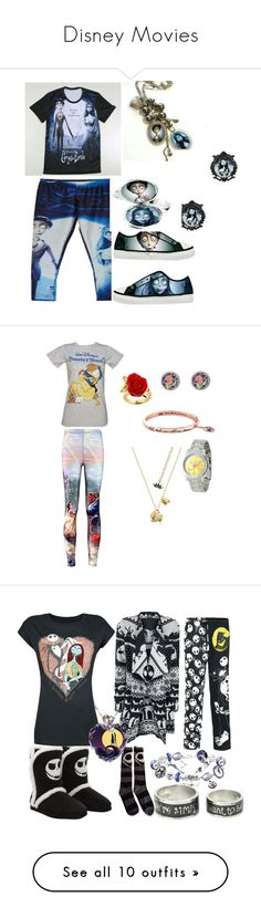 """Disney Movies"" by emmawitmer ❤ liked on Polyvore featuring Disney, The Bradford Exchange, Hot Topic, Fifth Sun, Avon, Canvas by Lands' End, Alex Woo, Havaianas, Topshop and Barbour International"