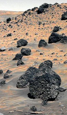 Volcanic Boulders on Mars, May 2006 Mars Pictures, Mars Photos, Curiosity Mars, Curiosity Rover, Mars Planet, Red Planet, Solar System Planets, Our Solar System, Mars Rover Images