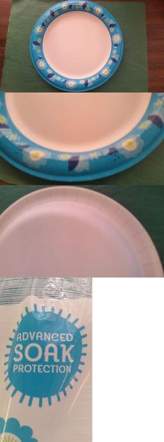 Paper Plates 179202 10 1 16 White And Blue Dixie Heavy Duty Paper Plate ( & Paper Plates 179202: Dixie Ultra Paper Plates Heavyweight 10.12 500 ...