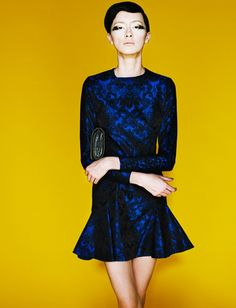Brocade dress by Stella McCartney. Love the dress but the model doesn't do it justice