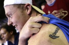Hope this guy is ready to move FORWARD with a cover-up tattoo.