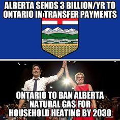 Alberta to Ontario transfer payments