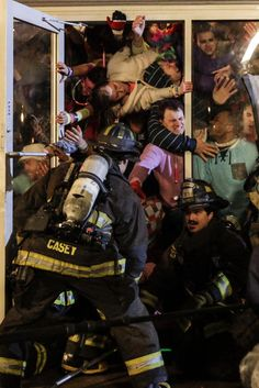 CHICAGO FIRE: Casey and Otis dealing with crowd control  | Shared by LION