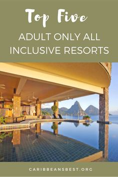 Do you need some alone time to relax? Here are some of the top 5 adult all inclusive resorts in the Caribbean. Adult All Inclusive Resorts, Honeymoon Destinations All Inclusive, Honeymoon On A Budget, Romantic Honeymoon, Vacations, Carribean Honeymoon, Caribbean Resort, The Places Youll Go, Places To Go