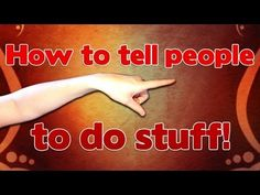 Learn German -The German Imperative (Orders) - How to tell someone to do stuff