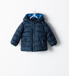 Image 1 of PADDED JACKET WITH DETACHABLE HOOD from Zara