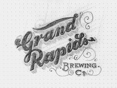 Grand Rapids Brewing Sketch by Drew Melton