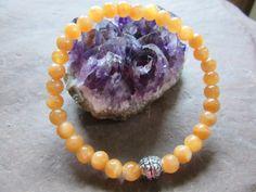 Handmade stretch bracelet natural orange calcite by RainbowReikiMJ