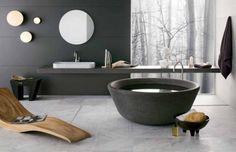 Bathroom Hotel Resort Interior Appliances Decoration Ideas Furniture Architecture Divine Contemporary Stone Bathtubs Design - pictures, photos, images