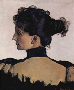 Portrait of Berthe Jacques, wife of the artist, 1894  Ferdinand Hodler