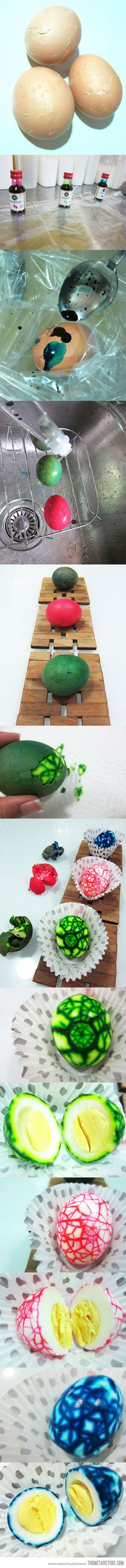 Marbled Easter Eggs! Make these into deviled eggs...