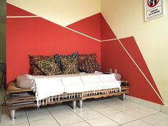 As paredes geométricas do Bruno e da Carla #acasaqueminhavoqueria