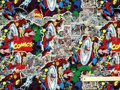MARVEL Comic world : Assorted cotton fabric prints | eBay