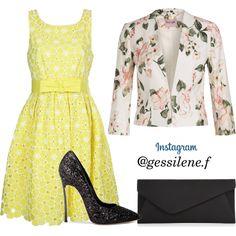 vestido by gessilene-ferreira on Polyvore featuring moda, P.A.R.O.S.H., Casadei and Accessorize