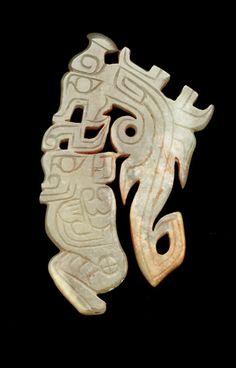 Dragon and kneeling figure; China, Western Zhou dynasty, ca. 11th century BCE; jade (nephrite); Gift of Arthur M. Sackler, S1987.860